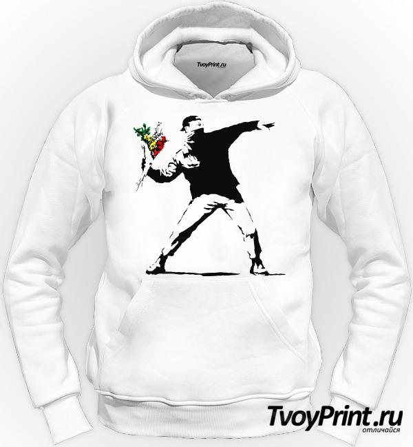 Толстовка Banksy Flowers