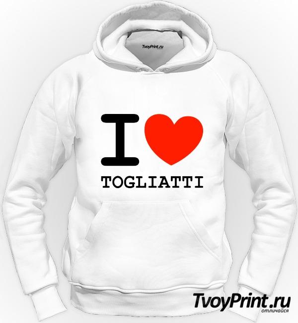 Толстовка Я люблю Тольятти