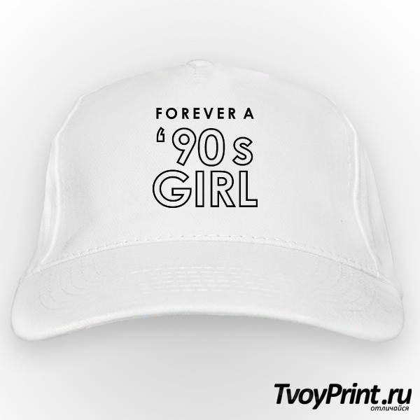 Бейсболка forever a 90's girl white