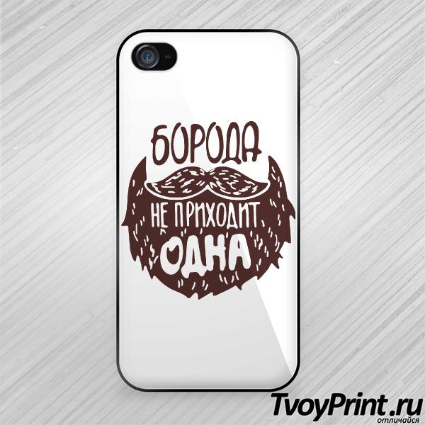 Чехол iPhone 4S Борода не приходит одна