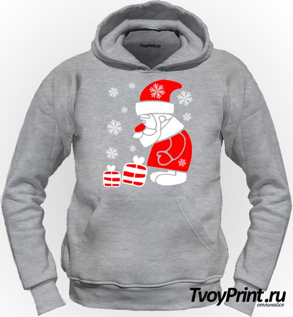 Толстовка Дед Мороз смотрит на подарочки