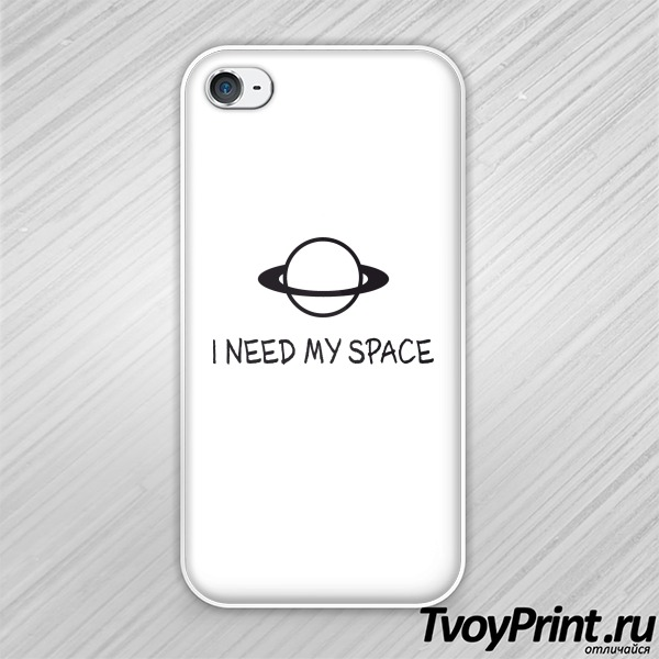 Чехол iPhone 4S I NEED MY SPACE