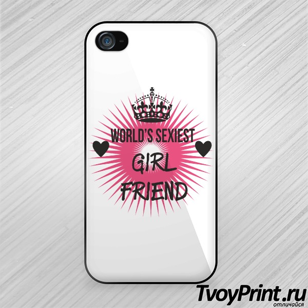 Чехол iPhone 4S World's sexiest Girlfriend