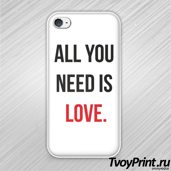 Чехол iPhone 4S all you need is love