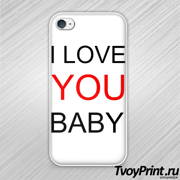 Чехол iPhone 4S I love you