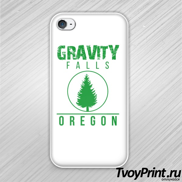 Чехол iPhone 4S GRAVITY FALLS OREGON