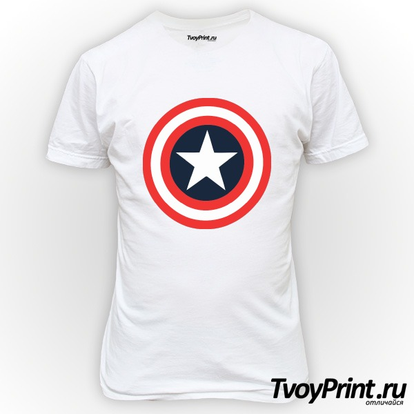 Футболка Щит Капитана Америка