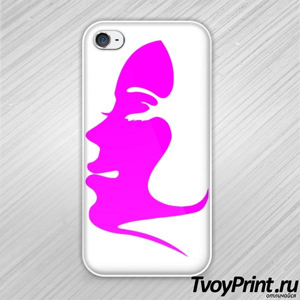 Чехол iPhone 4S поцелуй правая часть