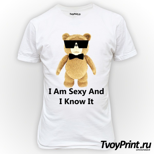 Футболка I am Sexy and I know it (TED)