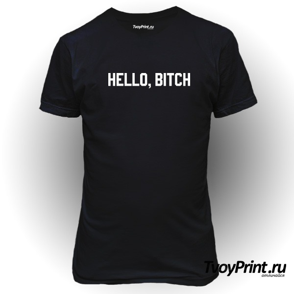 Футболка hello bitch