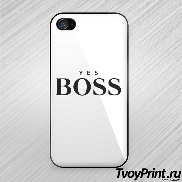 Чехол iPhone 4S yes boss