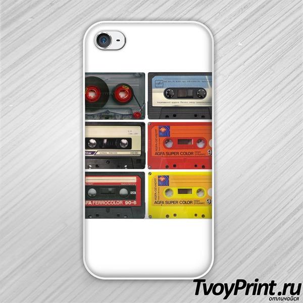 Чехол iPhone 4S Аудиокассета