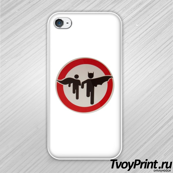 Чехол iPhone 4S Осторожно Betman