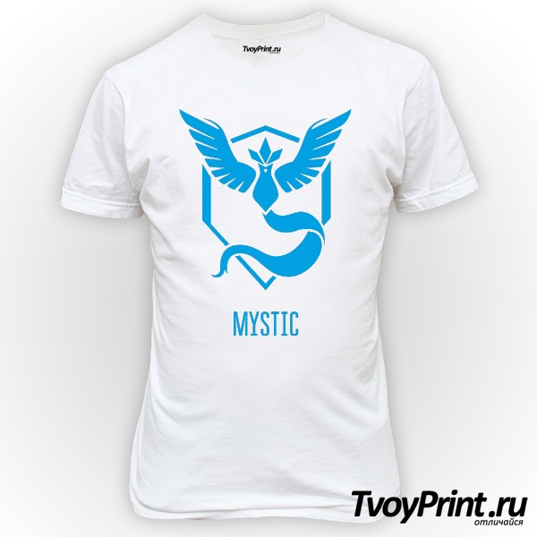 Футболка Blue Team Mystic Pokemon Go Синяя команда