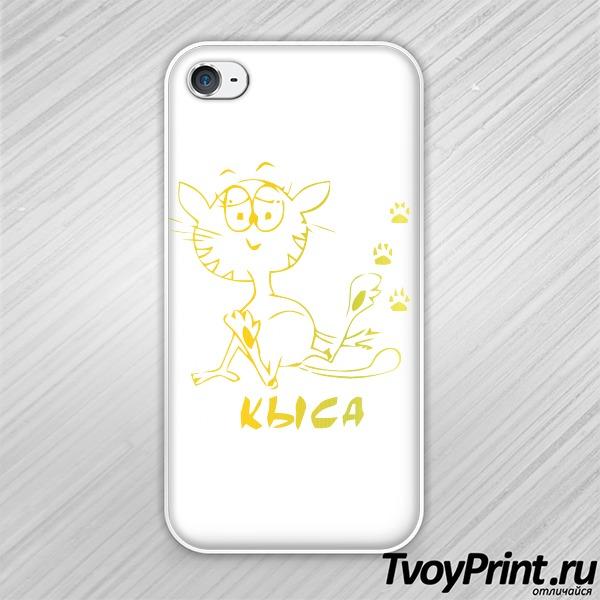 Чехол iPhone 4S Кыса