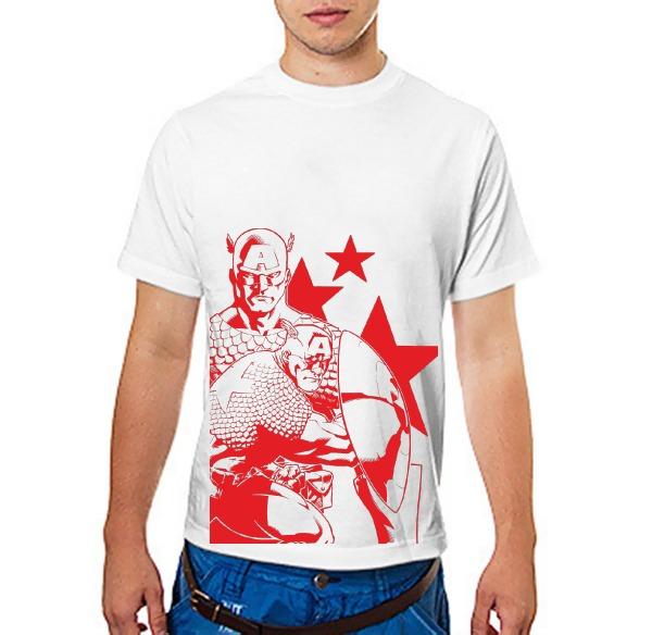 Футболка Капитан Америка (красный)