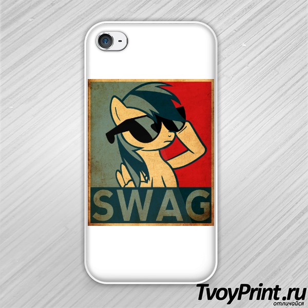 Чехол iPhone 4S Rainbow Dash Swag