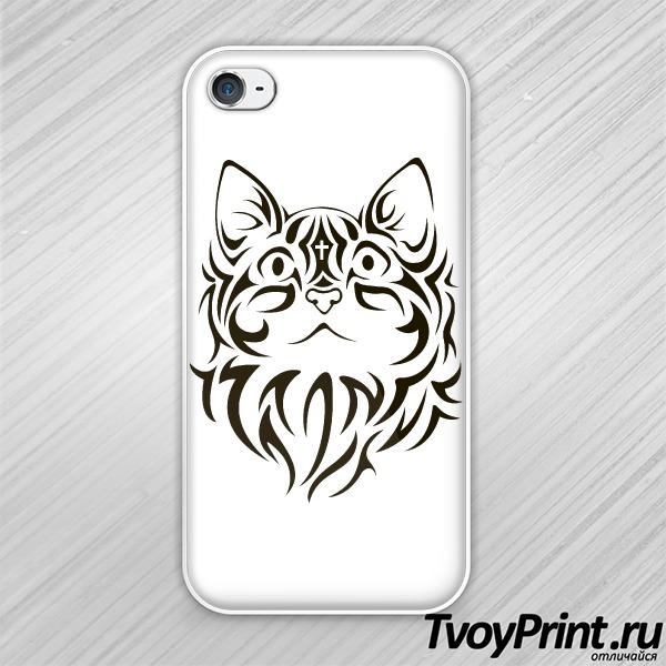 Чехол iPhone 4S The cat