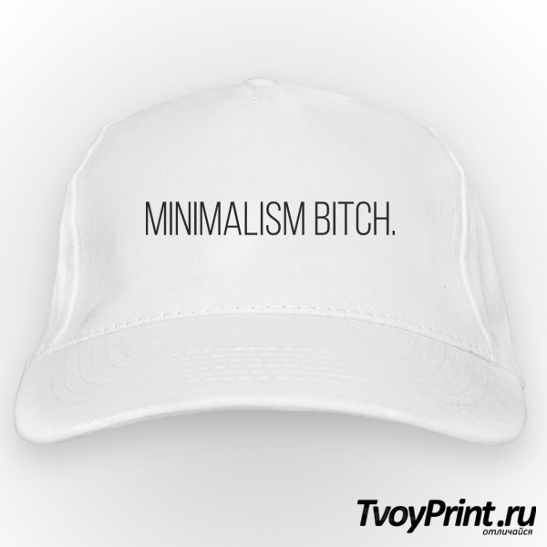 Бейсболка minimalism bitch