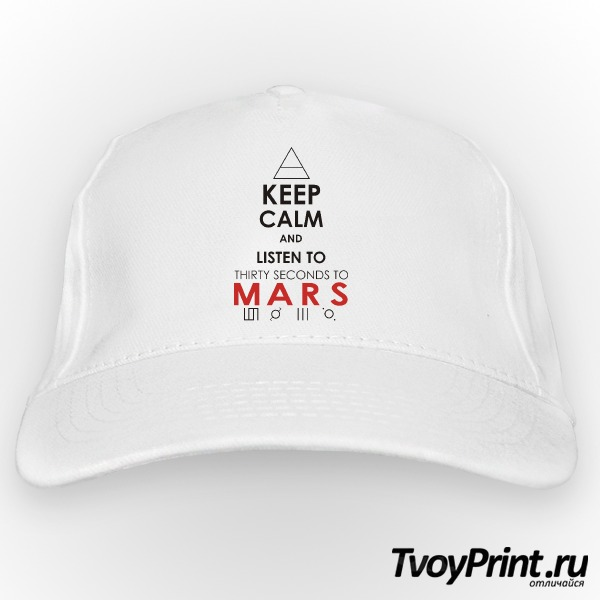 Бейсболка 30 seconds to mars Keep Calm and Listen