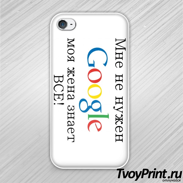 Чехол iPhone 4S Google