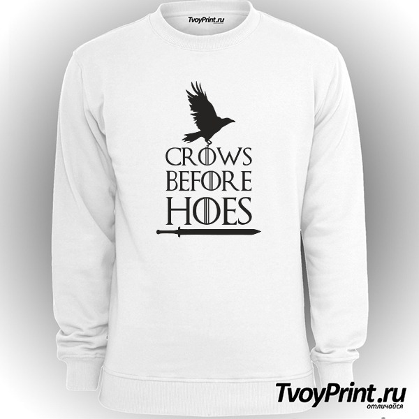 Свитшот Got Crows Before Hoes