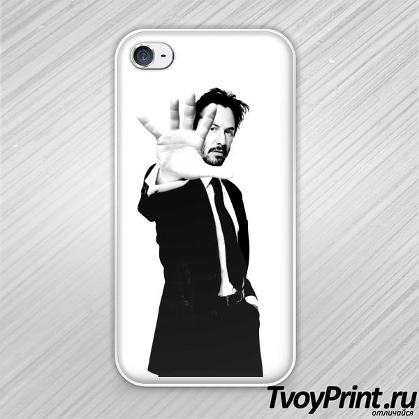 Чехол iPhone 4S киану в костюме