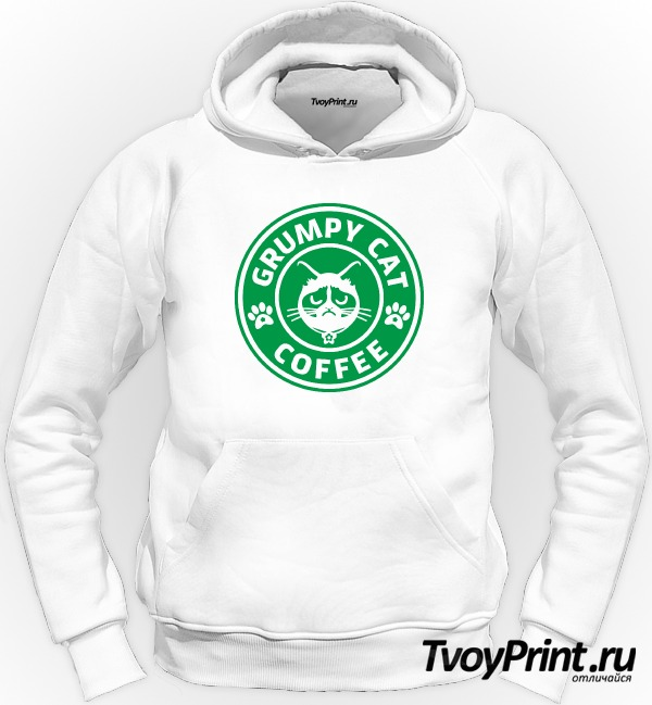 Толстовка Grumpy Cat Coffee