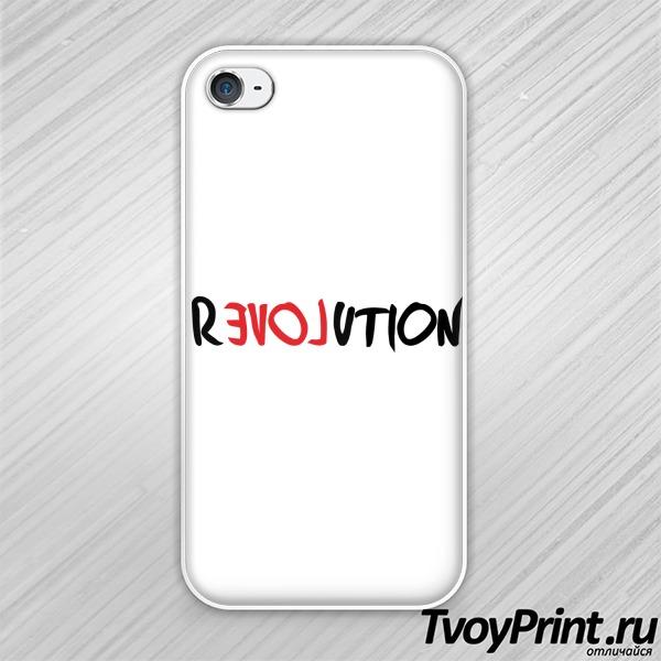 Чехол iPhone 4S love revolution