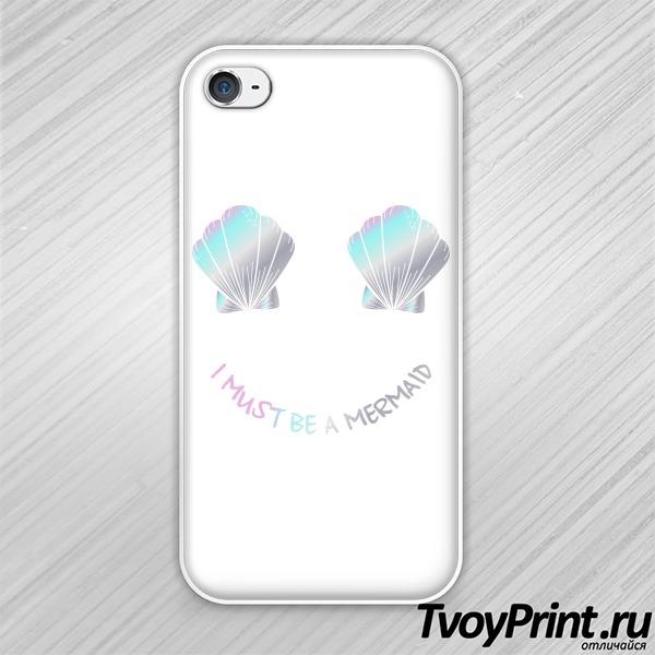 Чехол iPhone 4S Радужные ракушки