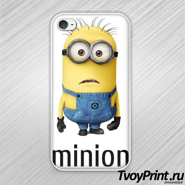 Чехол iPhone 4S Миньон (мультфильм - Гадкий Я)