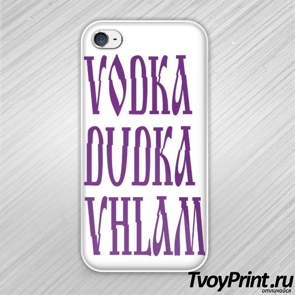 Чехол iPhone 4S ВОДКА ДУДКА ВХЛАМ