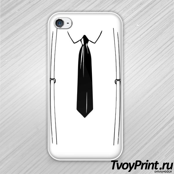 Чехол iPhone 4S подтяжки и галстук
