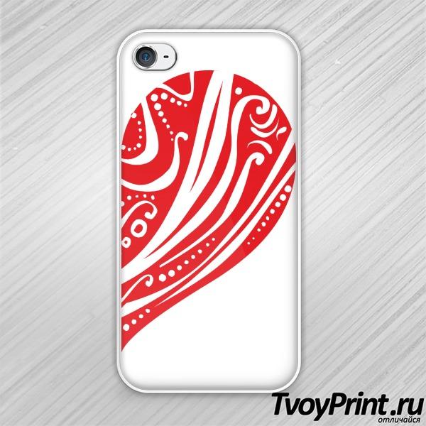 Чехол iPhone 4S Сердце (жен)