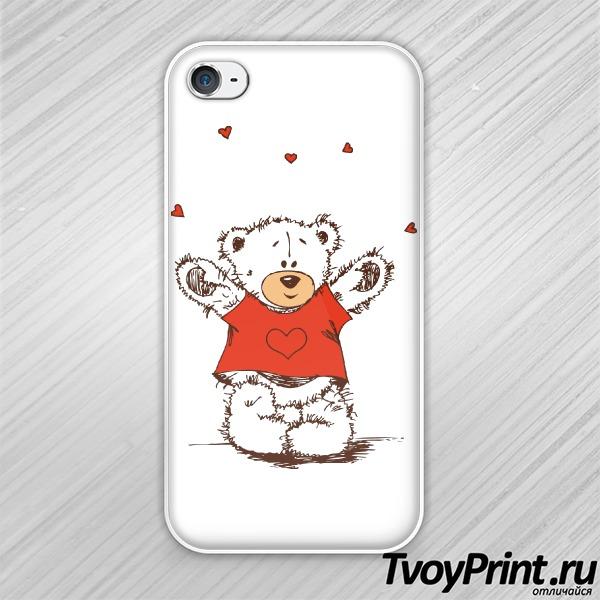 Чехол iPhone 4S Тедди
