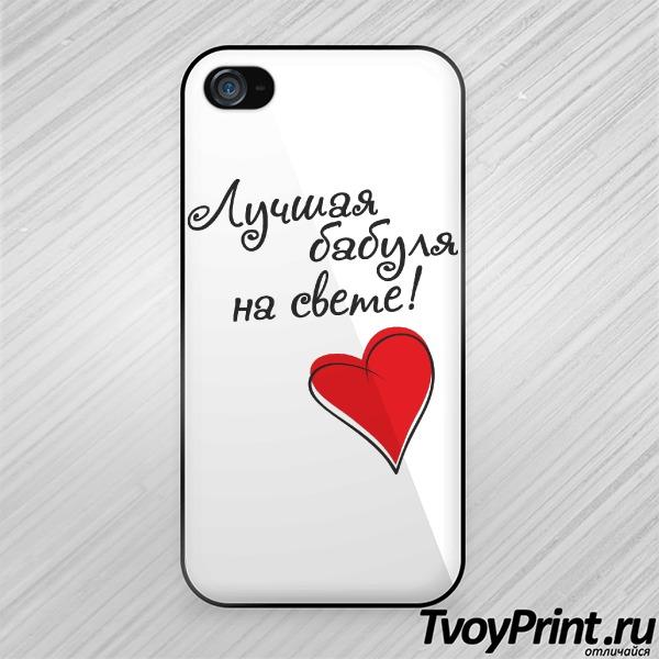 Чехол iPhone 4S Лучшая бабуля на свете