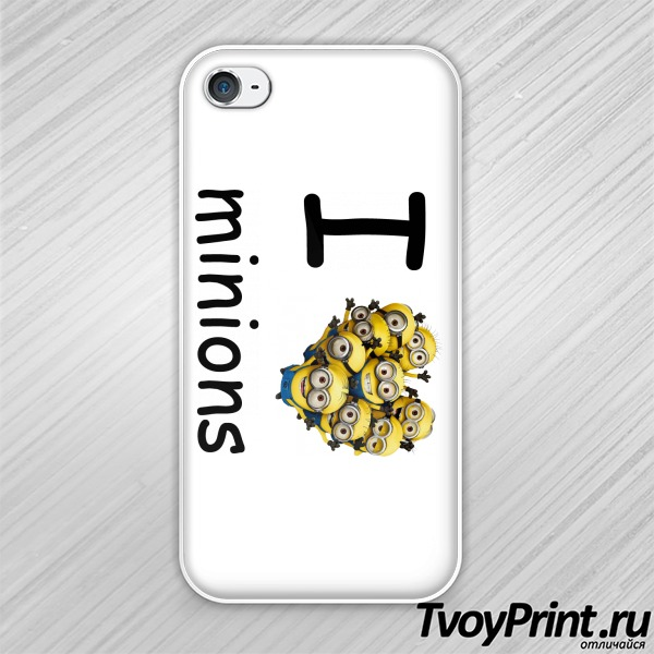 Чехол iPhone 4S I love minion (миньон)