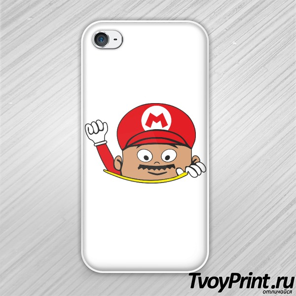 Чехол iPhone 4S Super Mario