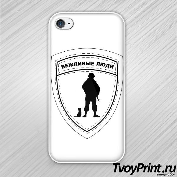 Чехол iPhone 4S Вежливые люди (знак на груди)