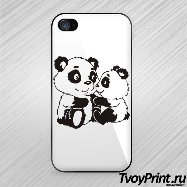Чехол iPhone 4S Панды