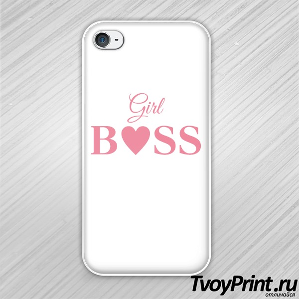 Чехол iPhone 4S girl boss