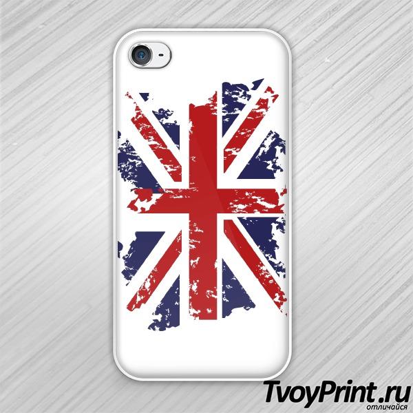Чехол iPhone 4S Флаг Великобритании