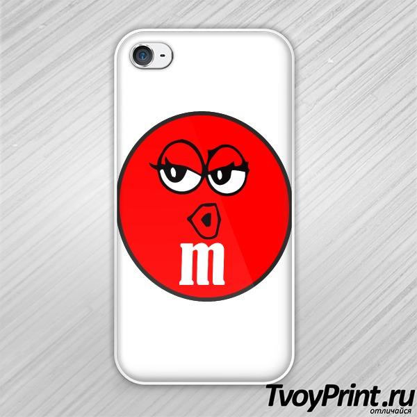 Чехол iPhone 4S m&m женская