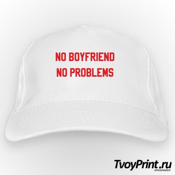 Бейсболка no boyfriend no problem