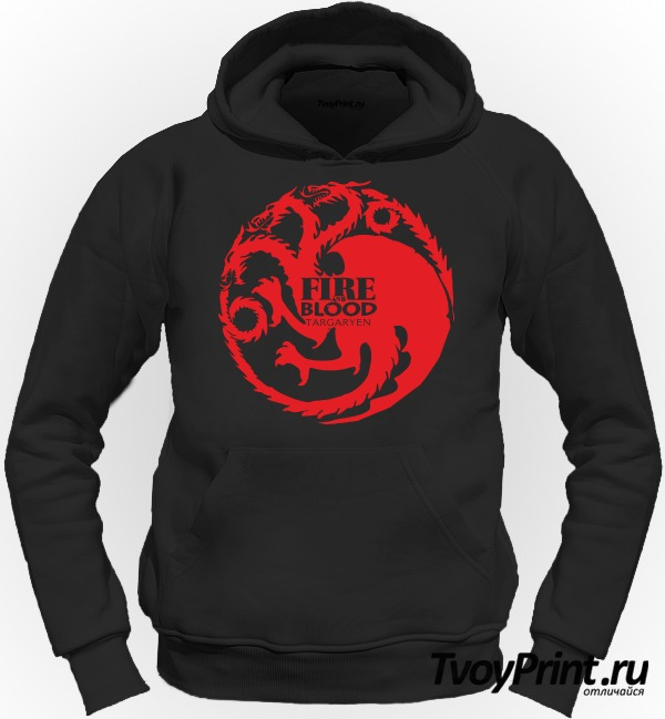Толстовка Игра престолов (Fire and Blood)