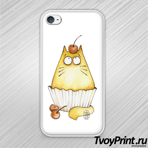 Чехол iPhone 4S Кот-Маффин