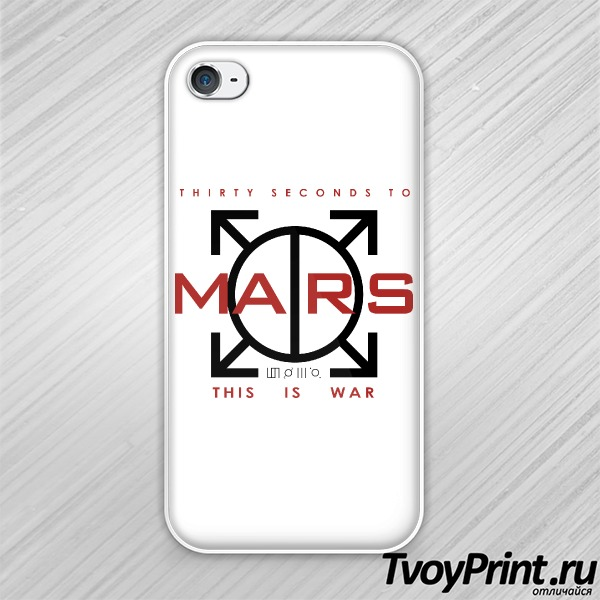 Чехол iPhone 4S 30 seconds to mars Landing