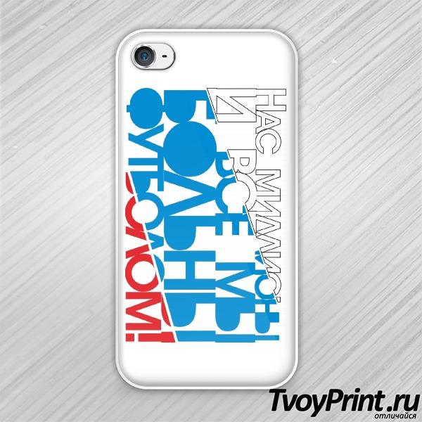 Чехол iPhone 4S футбольная