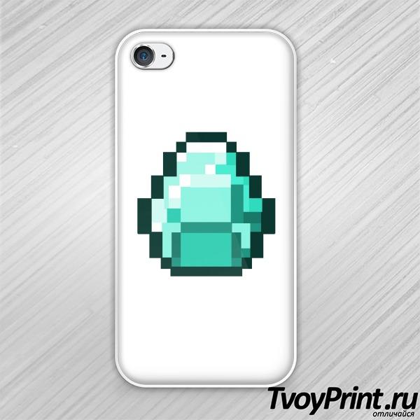 Чехол iPhone 4S Майнкрафт Алмаз