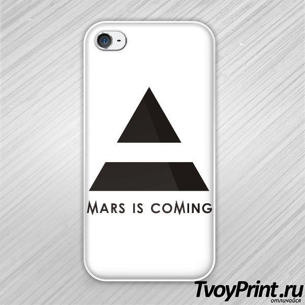 Чехол iPhone 4S 30 seconds to mars is coming